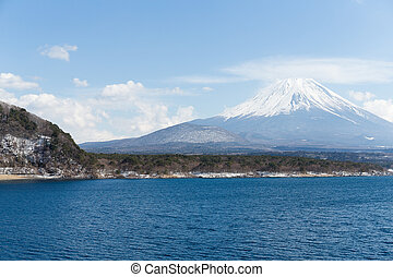 Fujisan and Lake Motosu