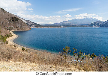 Fujisan with Lake Motosu