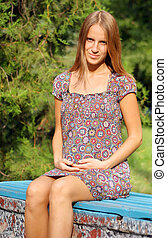 pregnant woman in the park