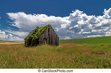 Abandoned bunk house in rural Idaho
