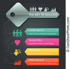 Infographic Template with key business concept vector illustration
