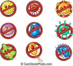 Illustration of stop virus - Vector illustration of stop...