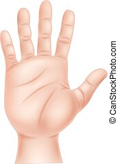 Illustration of human hand - Vector illustration of human...