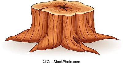 Illustration of tree stump - Vector illustration of tree...