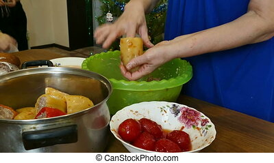 cabbage rolls - Russian food is prepared stuffed peppers...