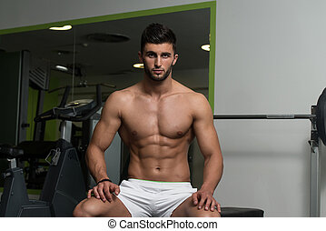 Arabic Man Showing His Well Trained Abs - Portrait Of A...