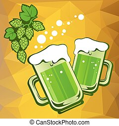 two green beer
