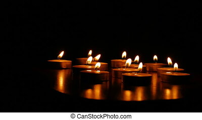 candles romance - candles burn scented romantic still-life...