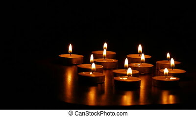 candles romance - candles burn romantic scented still-life...