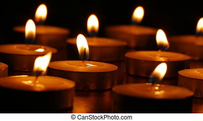 candles romance - candles burn evening scented still-life...