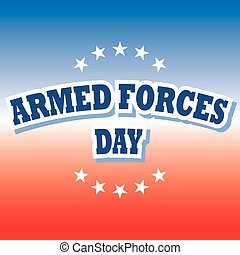 armed forces day banner on red and blue background