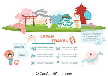 Japan travel element - great for Japan travel concept