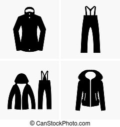 Ski suits shade pictures