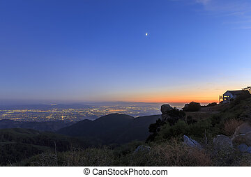 San Bernardino at sunset time - Sight seeing over San...