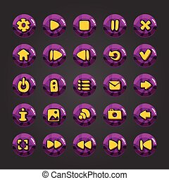 Big set of vector button for game - Set of vector button for...