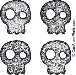 Ornament skull set.