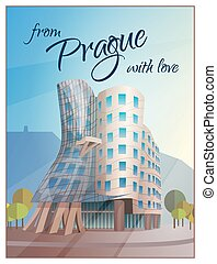 Dancing House Building Prague Poster - Prague city views...