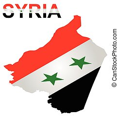 Isometric Syrian Flag - Isometric flag of Syrian Arab...