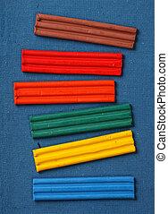 Color plasticine - Close up of Color plasticine