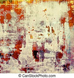 Colorful vintage background, grunge texture with scratches,...