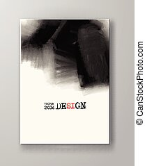 Abstract inkblot background - Brochure abstract inkblot...