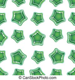 Star Shape Candy Pattern. Vector Illustration