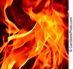 Flames Fire of Hell against a black background