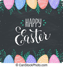 Easter background with Happy easter text.
