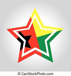 Guinea-Bissau Star Flag - an abstract illustration of the...