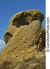 eerie, causado, rocha, formações, litoral, resultado, ondas,...
