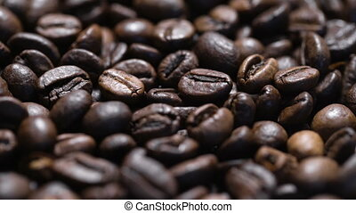 roasted coffee beans, can be used as a background. Smooth...