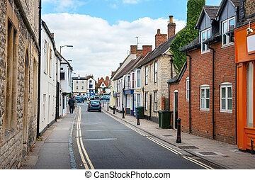 Bicester Village. England - Causeway street. Bicester...
