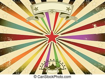 Horizontal circus retro party - A horizontal retro...