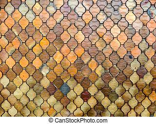parete, tegole, ceramica
