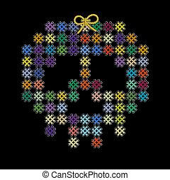 decorativo, tejer, tejido, Color, imagen, Ilustración,...