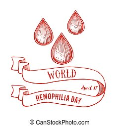 World hemophilia day poster in vintage style