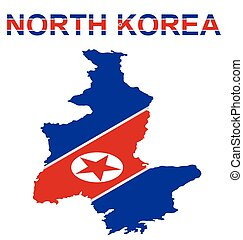 North Korea - Isometric flag of North Korea officially the...