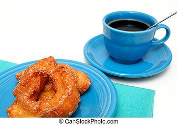 suero, Dughonut, y, café