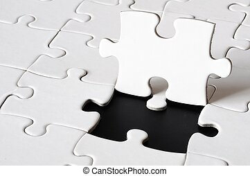 puzzle or jigsaw with blank copyspace for your text message