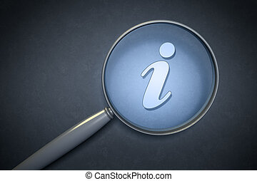magnifying glass information sign - search for informations...