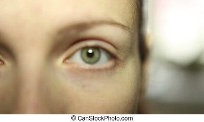 girl looking at the camera close-up