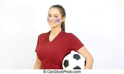 Soccer Female with British Flag