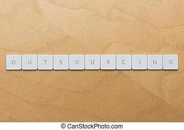 Keyboard Letters-Outsourcing - Keyboard letters spell...