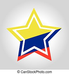 Colombia Star Flag