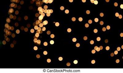 Many glow Bokeh circles at night