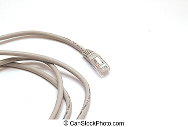 Internet cable RJ 45 on a white background