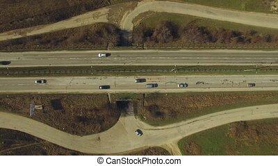 Traffic Moving On Motorway