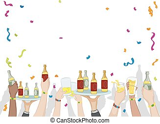 Party Drinks Confetti