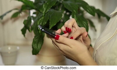 Writing messages on the smartphone HD
