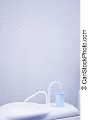 Dentists chair and mouth rinse cup - Dentists chair and...